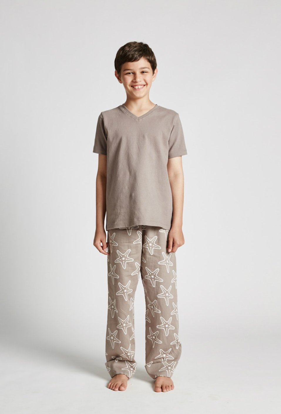 Starfish - Kids Unisex Pyjamas - Organic Cotton Tee and Pants