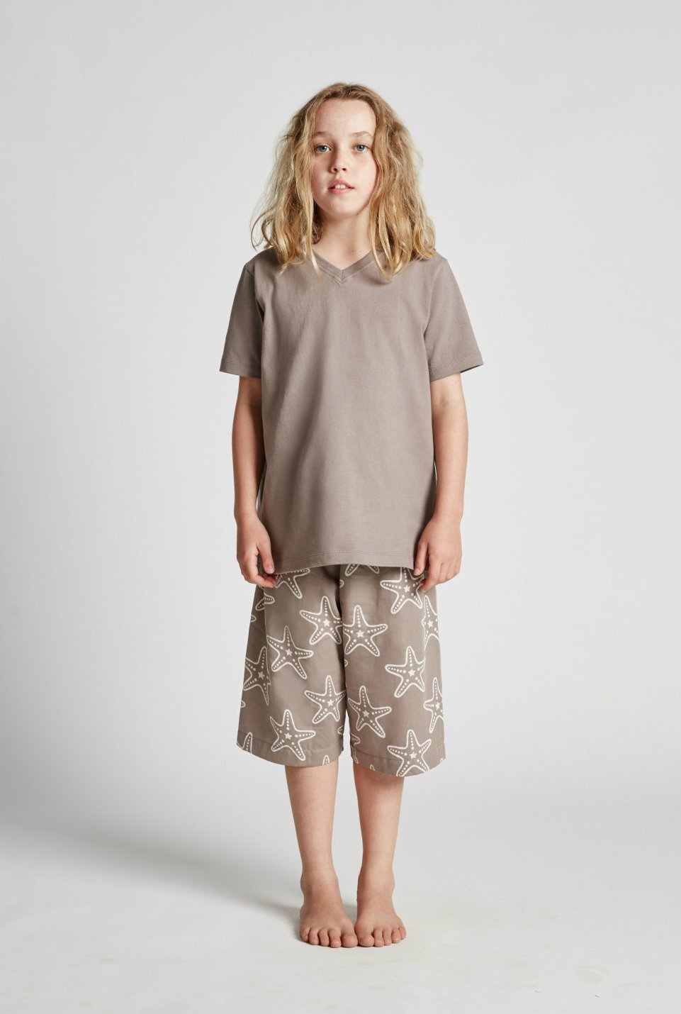 Starfish - Kids Unisex Pyjamas- Tee and Shorts Set