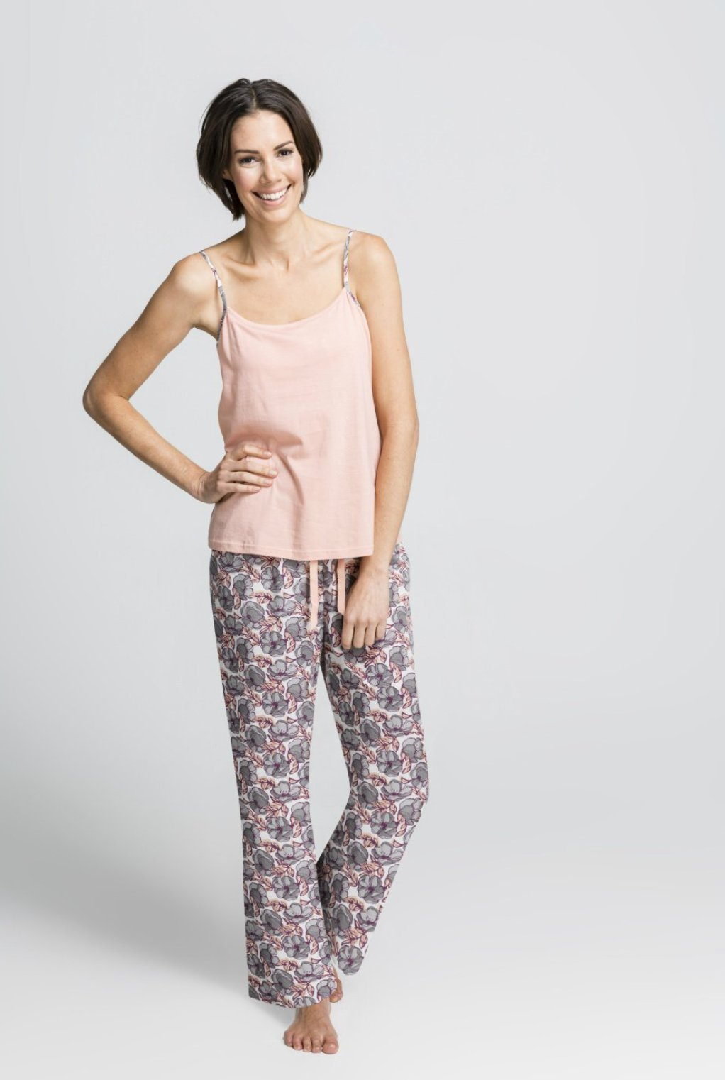 Sylvie - Organic PJ's - Strappy Singlet Top with Pants Set
