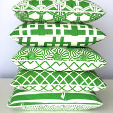 Green Oriental Scatter Cushions - Organic Cotton