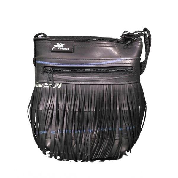 Recycled Rubber Tyre Fringe Bag