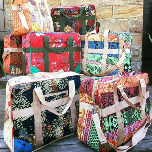 Upcycled Vintage Travel Bags