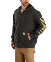 104637 Carhartt Rain Defender Original Fit Fleece Lined Logo Graphic Sweatshirt