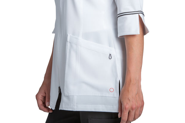2814 Marvella Labcoat With 2 Way Zipper
