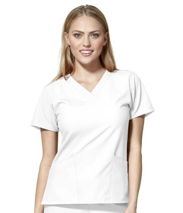 6255A - Women's Basic V-Neck Top