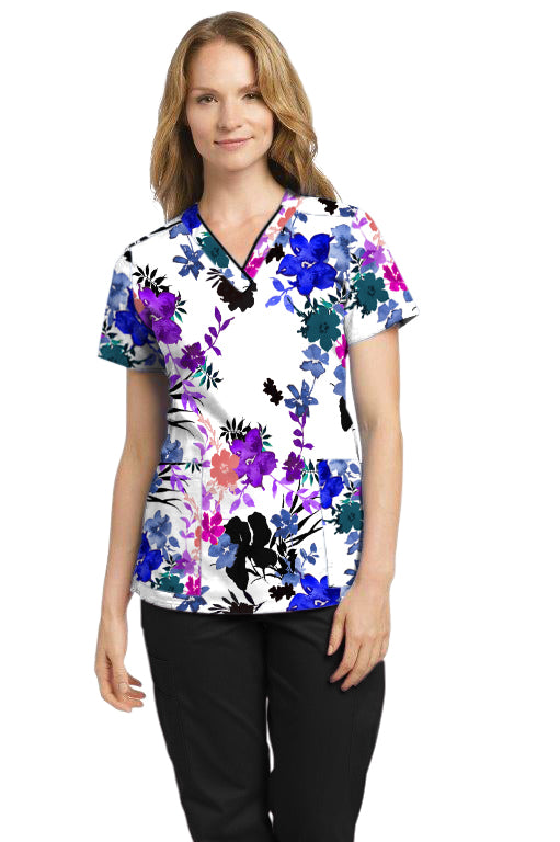 755 V-neck Printed Top Fabulous Fern Floral