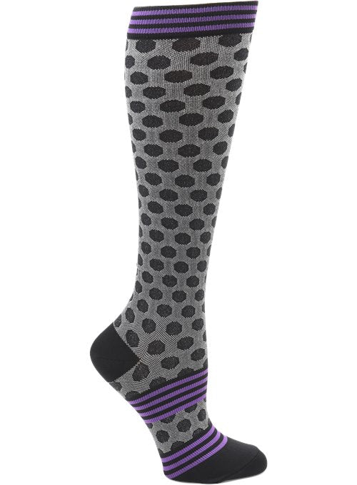 Nurse Mates Compression Sock - Sporty Dot Black 883779