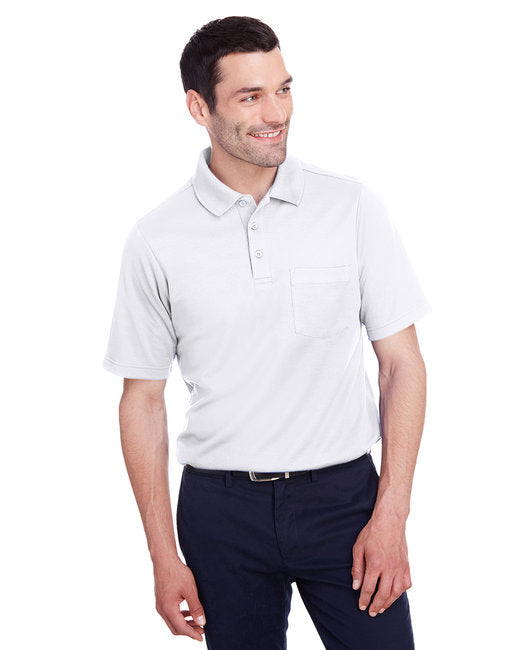 DG20P Devon & Jones Men's CrownLux Performance™ Plaited Polo with Pocket