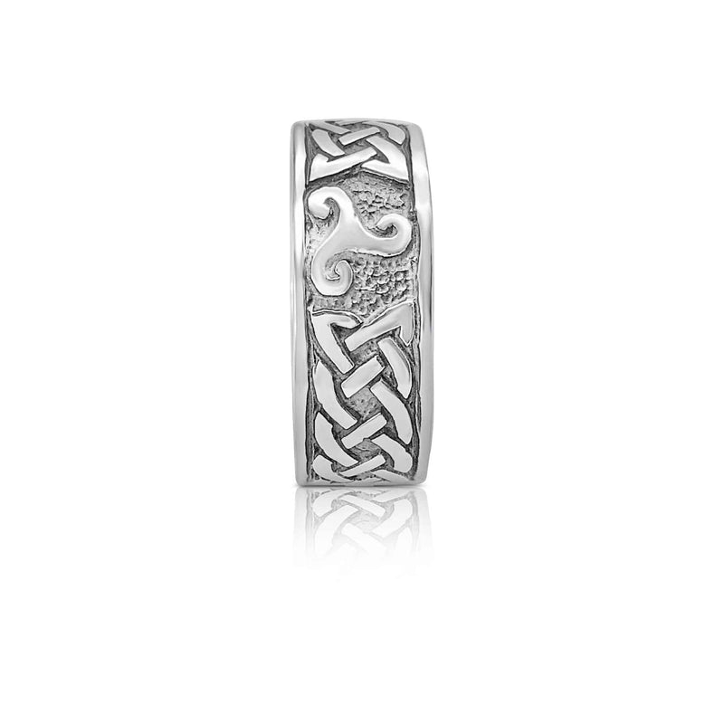 Sterling Silver Celtic Band with Triskele