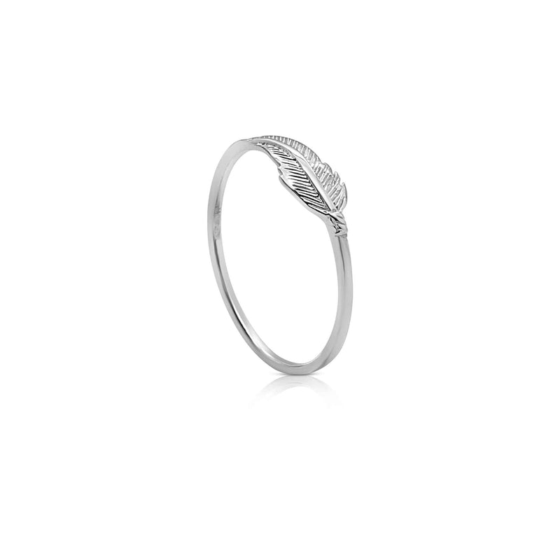 Sterling Silver Feather Stacking Ring