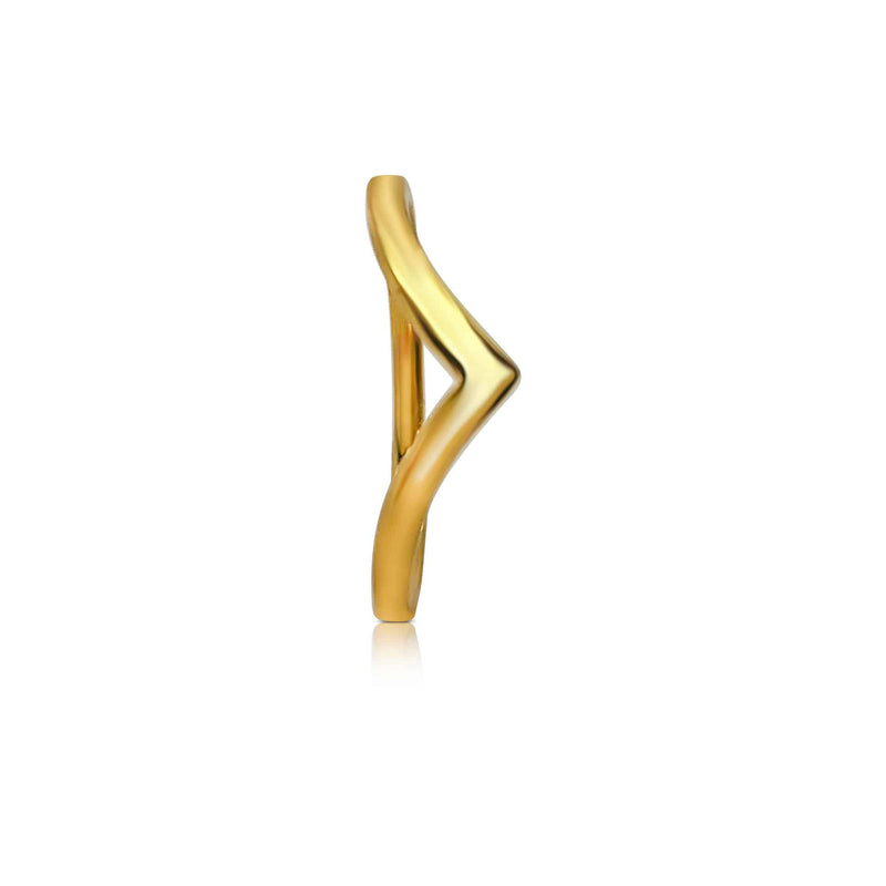 Sterling Silver with 18ct Gold Plated Wishbone Ring