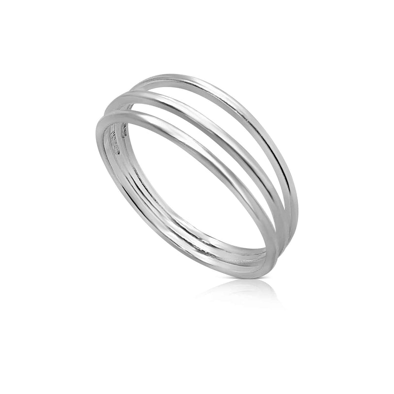 Sterling Silver Three Band Ring