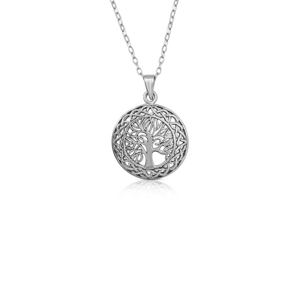 Sterling Silver Tree Of Life Pendant and Necklace