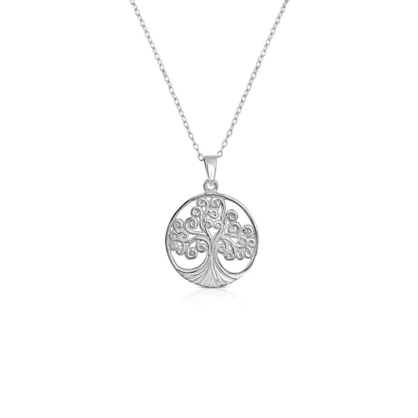 Sterling Silver Tree Of Life Necklace & Pendant
