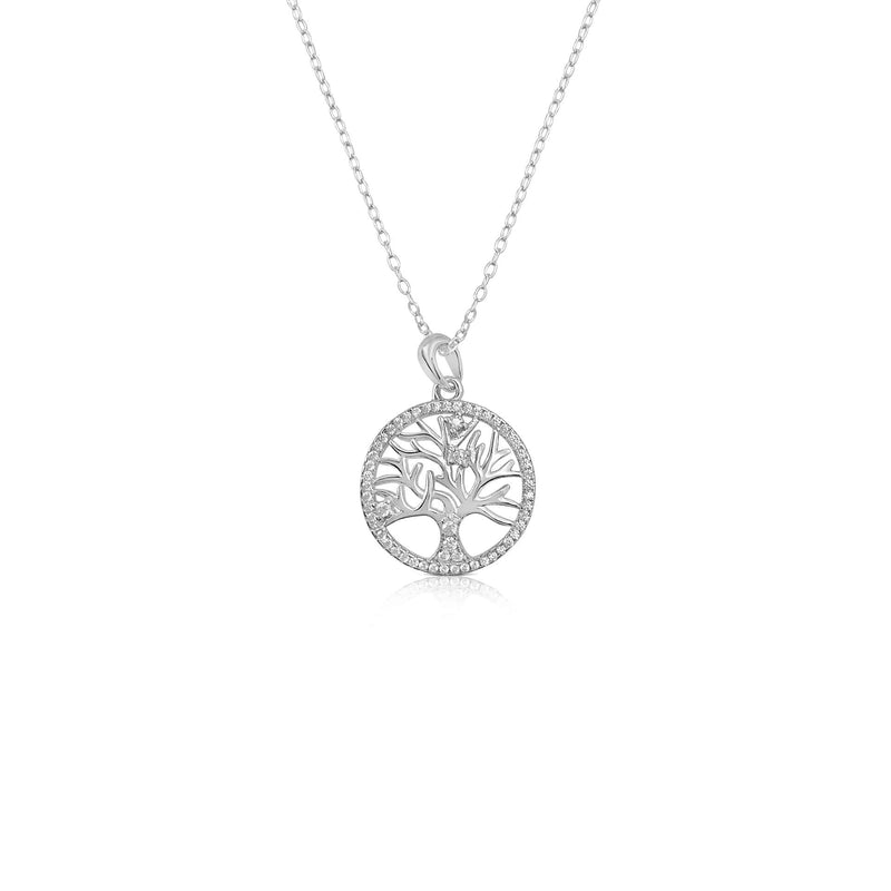 Tree Of Life Necklace Decorated With CZ