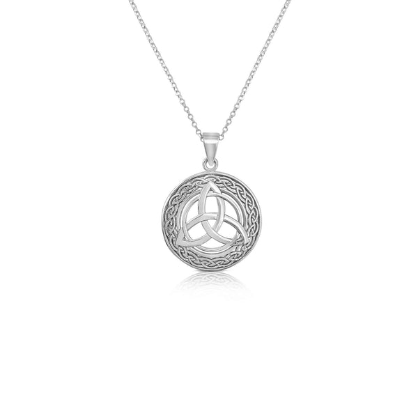 Sterling Silver Celtic Knot Pendant and Chain.