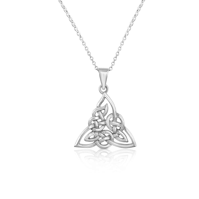 Sterling Silver Celtic Knot Pendant With Chain
