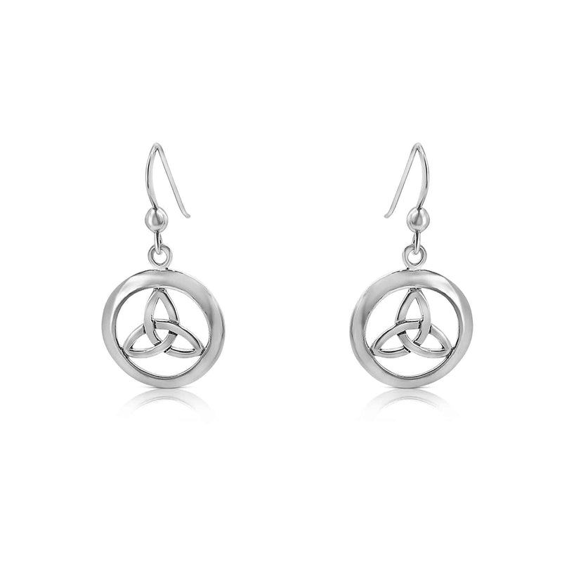 Sterling Silver Celtic Knot Drop Earring.