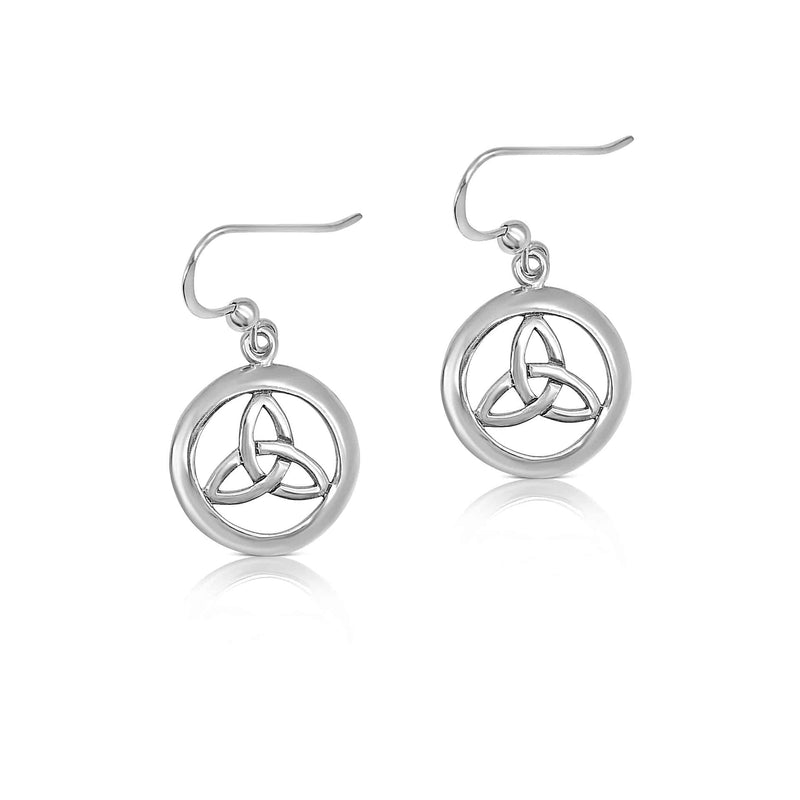 Sterling Silver Celtic Knot Drop Earring