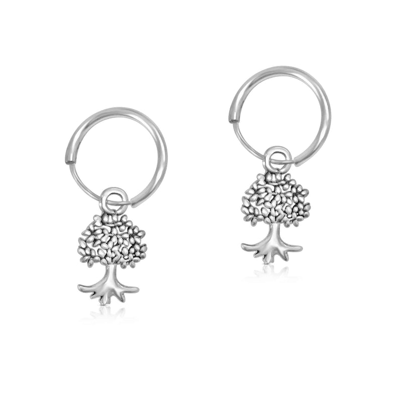 Sterling Silver Tree of Life Drop Earring