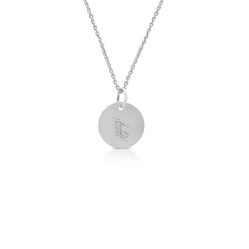 Sterling Silver Ogham Necklace Letter 'R'