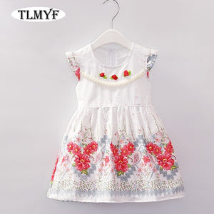 Baby Pearl & Flower Sleeveless Dresses