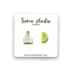 Tequila and Lime Earrings