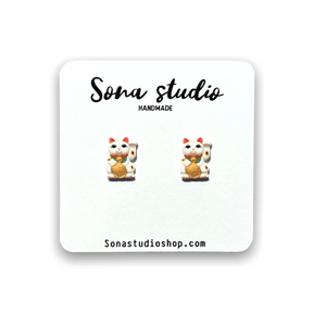 Maneki-neko (Chinese Lucky Cat) Earrings