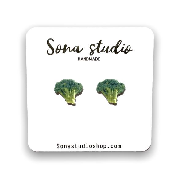 Broccoli Earrings