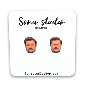Ron Swanson Earrings