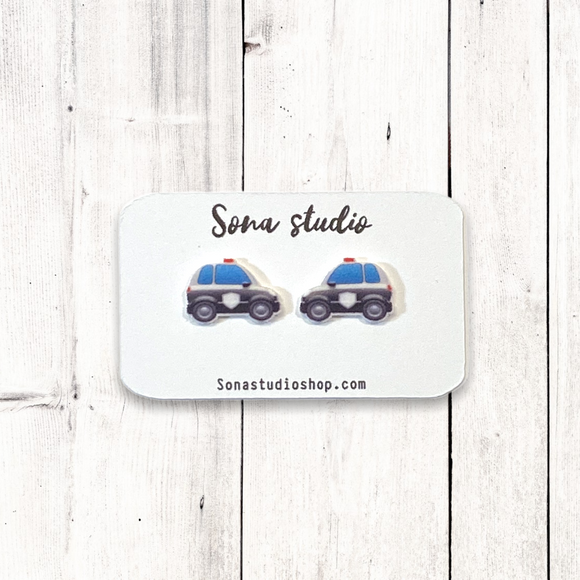 Police Car Earrings