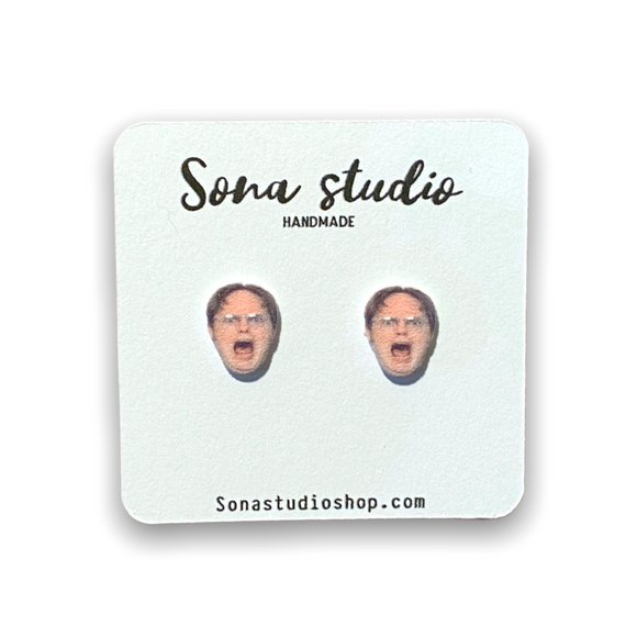 Shouting Dwight Earrings