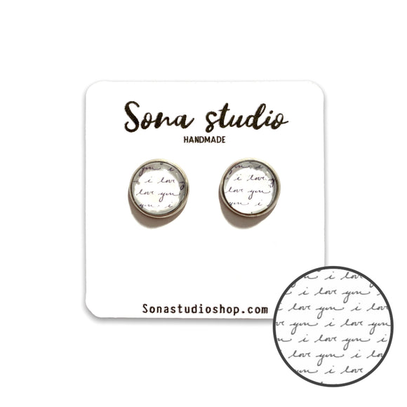 Custom Handwriting Keepsake Earrings