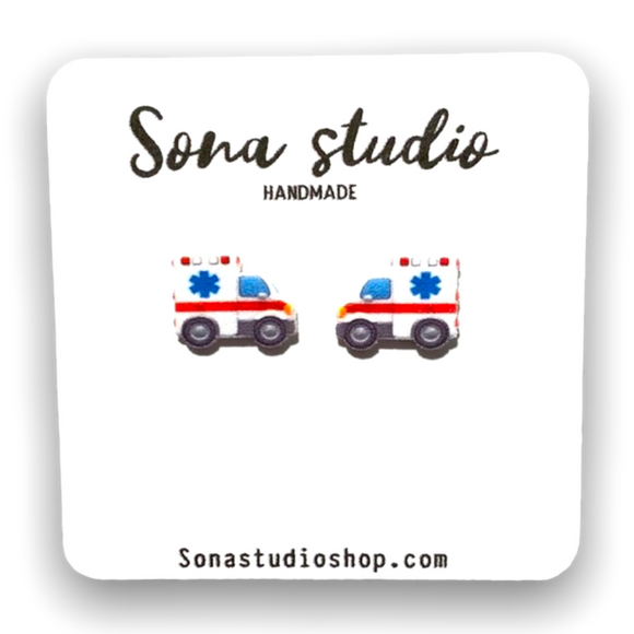 Ambulance earrings