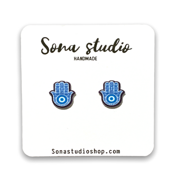 Evil Eye Hamsa Earrings