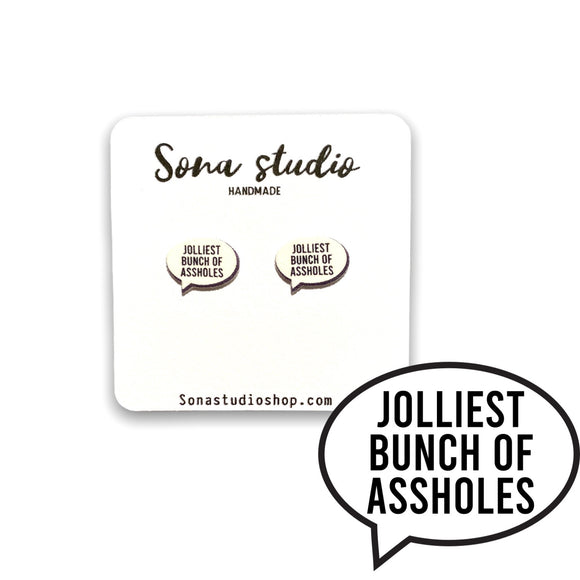 Jolliest Christmas Vacation Quote Earrings