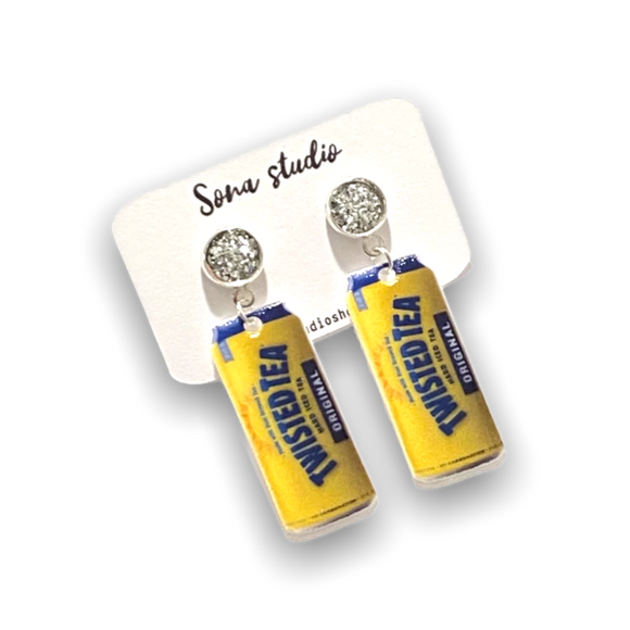 Twisted Tea Statement Earrings