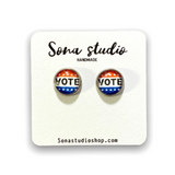 Vote Cabochon Earrings