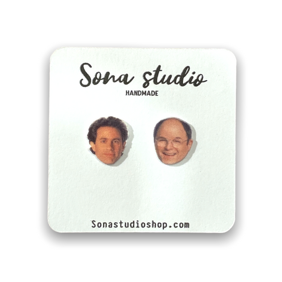 Jerry and George (Seinfeld) Earrings