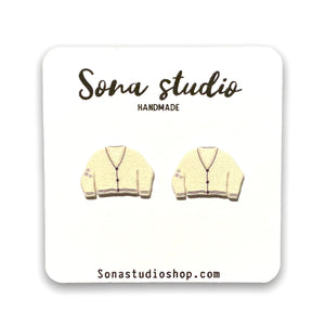 Taylor Swift Inspired Cardigan Earrings