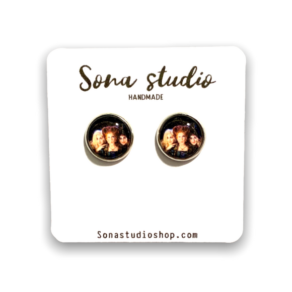 Hocus Pocus Inspired Cabochon Earrings