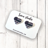 Thin Green Line Earrings