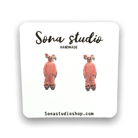Pink Nightmare -A Christmas Story Earrings