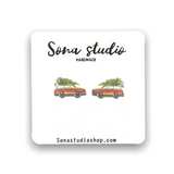 Griswold Station Wagon Earrings -Christmas Vacation