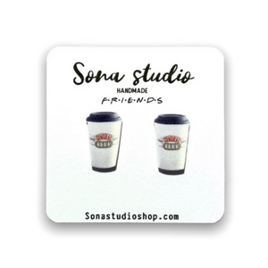 Friends Central Perk Coffee Cup Earrings