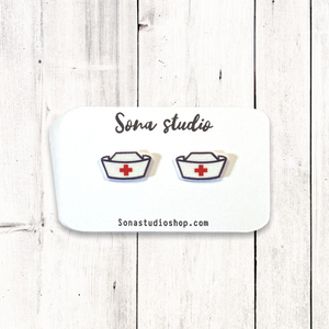 Nurse Hat Earrings