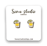 Tequila Shot Glass Earrings