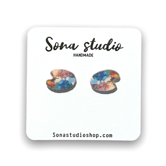 Artist Paint Pallet Earrings