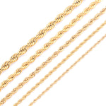 Gold Plating Rope Chain Necklace - Boring Online Store