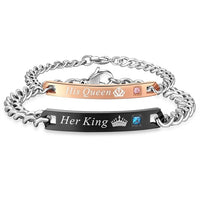 Her King His Queen Couple Bracelets - Boring Online Store